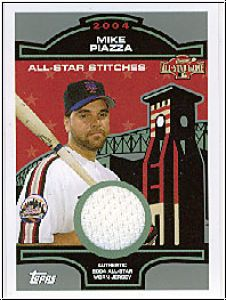 MLB 2005 Topps All-Star Stitches Relics - No MP - Mike Piazza
