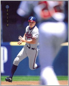 MLB 1997 Zenith 8x10 - No 14 of 24 - Chipper Jones