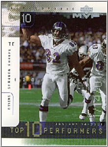 NFL 2001 Upper Deck MVP Top 10 Performers - No TOP 10 - Sharpe