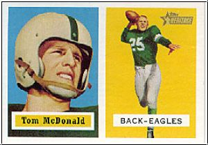 NFL 2002 Topps Heritage 1957 Reprints - No 124 - Tom McDonald