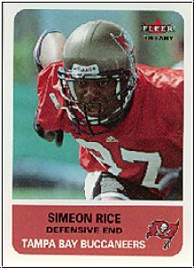 NFL 2002 Fleer Tradition Tiffany - No 111 - Simeon Rice