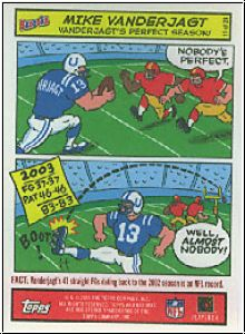 NFL 2004 Bazooka Comics - No 11/24 - Mike Vanderjagt