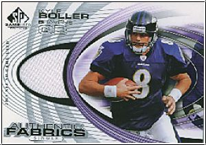 NFL 2004 SP Game Used Edition Authentic Fabric - Boller