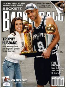NBA Monthly Beckettzeitschrift - August 2007 - Titelbild Parker