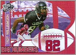 NFL 2005 Press Pass Big Numbers - No BN 24 - Troy Williamson