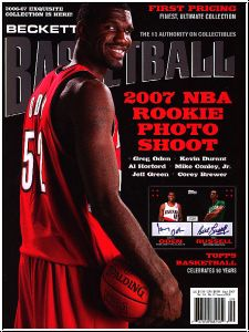 NBA Monthly Beckettzeitschrift - September 2007 - Greg Oden