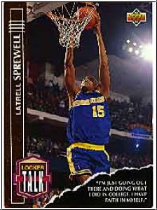 NBA 1993 / 94 Upper Deck Locker Talk - No L13 - Sprewell
