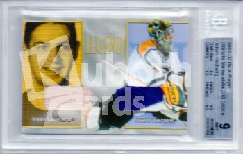 NHL 2001-02 BAP Ultimate Memorabilia Legend Terry Sawchuk - No 6 - Johan Hedberg