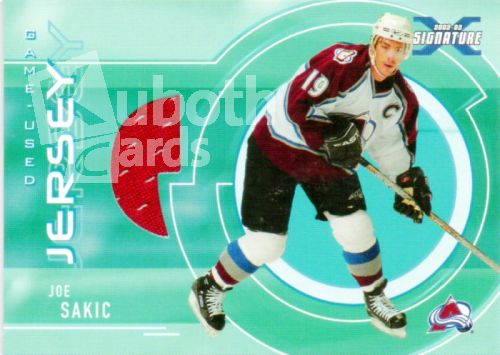 NHL 2002-03 BAP Signature Series Jerseys - No SGJ-22 - Joe Sakic