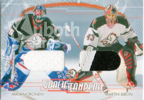 NHL 2002-03 Between The Pipes Tandems - No GT-6 - Mika Noronen / Martin Biron