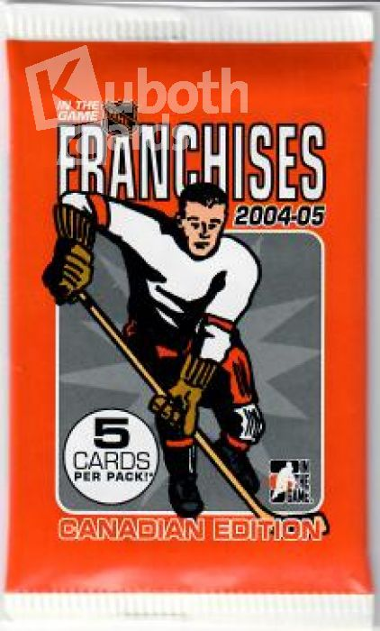 NHL 2004-05 In the Game Franchises Canadian Edition
