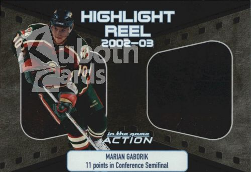 NHL 2003-04 ITG Action Highlight Reel - No HR-12 - Marian Gaborik