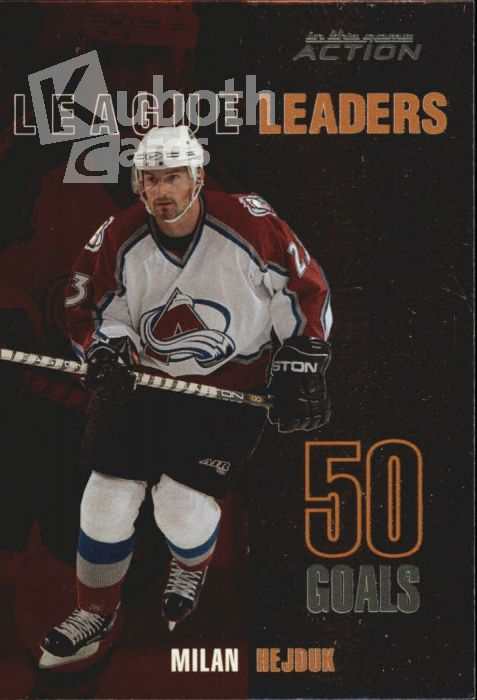 NHL 2003-04 ITG Action League Leaders - No LL-2 - Milan Hejduk