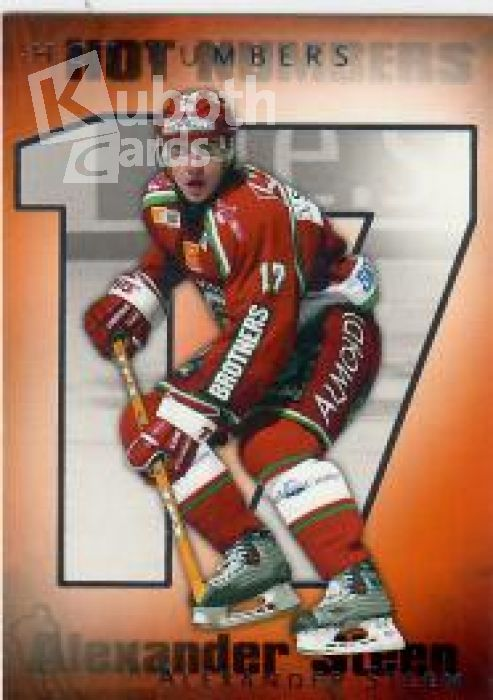 NHL/SHL 2003-04 Swedish SHL Elitset Hot Numbers - No 4 of 12 - Alexander Steen