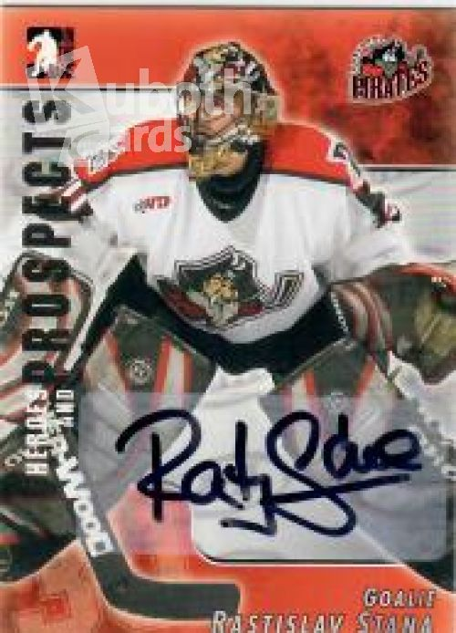 NHL 2004-05 ITG Heroes and Prospects Autographs - No A-RS - Rastislav Stana