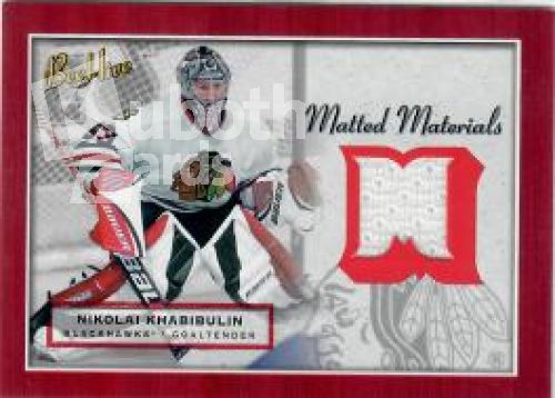 NHL 2005-06 BeeHive Matted Materials - No MM-NK - Nikolai Khabibulin