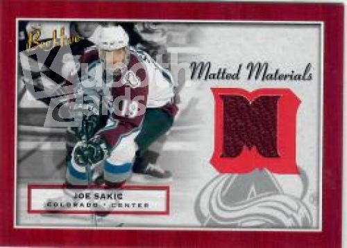 NHL 2005-06 BeeHive Matted Materials - No MM-SA - Joe Sakic
