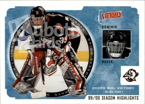NHL 2000-01 Upper Deck Victory - No 243 - Dominik Hasek