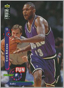 NBA 1996 Collectors Choice Int'l 1 French - No 180 - Robinson