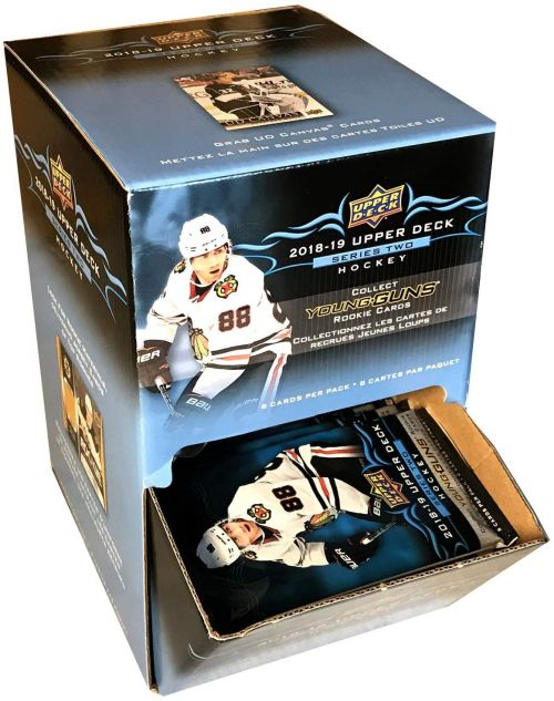 NHL 2018-19 Upper Deck Series 2 Gravity Feed Retail Box