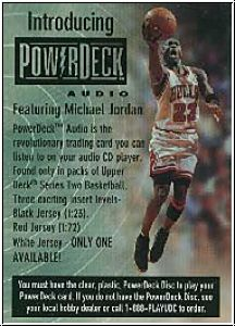 NBA 1999 / 00 Upper Deck Power Deck - Promo MJ