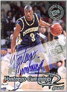 NBA 1999 Press Pass Autographs - No 19 - Vontego Cummings