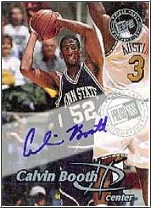 NBA 1999 Press Pass Autographs - No 25 - Calvin Booth