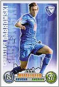 Fussball 2009 Topps Match Attax - Christoph Dabrowski
