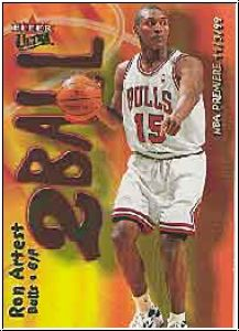 NBA 2000 / 01 Ultra Two Ball - No 9 of 15 TB - Ron Artest
