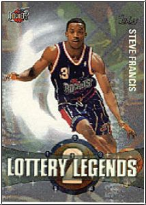 NBA 2001 / 02 Topps Lottery Legends - No LL2 - Steve Francis