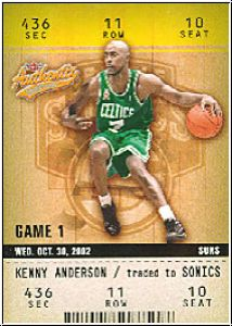 NBA 2002 / 03 Fleer Authentix - No 80 - Kenny Anderson