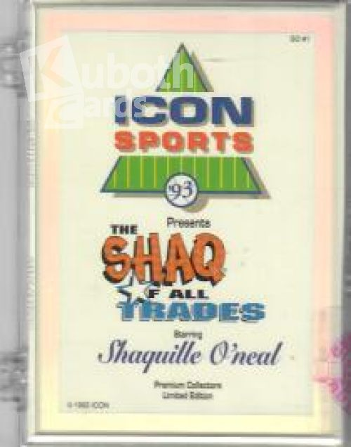 NBA 1992-93 Icon Sports Shaq of all Trades Factory Set mit Pink Umrandung