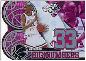 NBA 2004 Press Pass Big Numbers - No BN 12/25 - James Moore