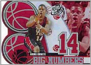 NBA 2004 Press Pass Big Numbers - No BN 14/25 - Andre Emmett