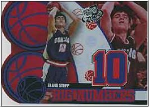 NBA 2004 Press Pass Big Numbers - No BN 1/25 - Blake Stepp