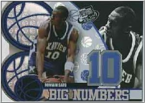 NBA 2004 Press Pass Big Numbers - No BN 21/25 - Romain Sato