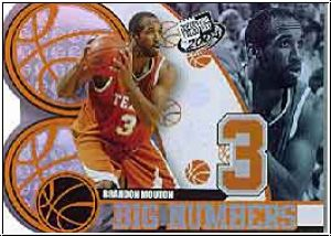 NBA 2004 Press Pass Big Numbers - No BN 13/25 - B. Mouton