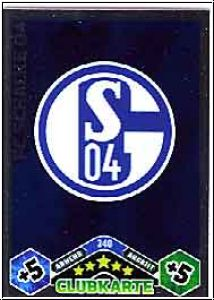 Fussball 2010 / 11 Topps Match Attax - No 340 - Logo Schalke
