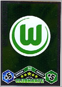 Fussball 2010 / 11 Topps Match Attax - No 342 - Logo Wolfsburg