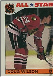 NHL 1985 / 86 Topps Sticker Inserts - No 11 - Doug Wilson