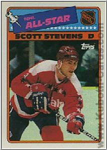 NHL 1988 / 89 Topps Sticker Inserts - No 4 - Scott Stevens