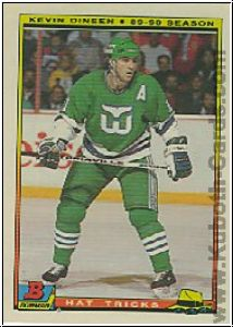 NHL 1990 / 91 Bowman Hat Tricks - No 7 of 22 - Kevin Dineen