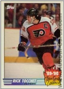 NHL 1990 / 91 Topps Team Scoring Leaders - No 9 - Rick Tocchet