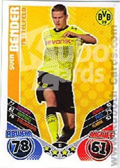 Fussball 2011 / 12 Topps Match Attax - No 65 - Sven Bender