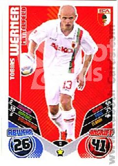 Fussball 2011 / 12 Topps Match Attax - No 13 - Tobias Werner