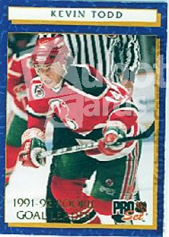 NHL 1992 / 93 ProSet Rookie Goal Leaders - No 7 of 12