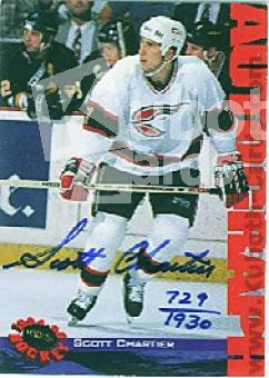 NHL 1994 Classic Autographs- No NN0 - Scott Chartier