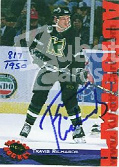 NHL 1994 Classic Autographs - No NN0 - Travis Richards
