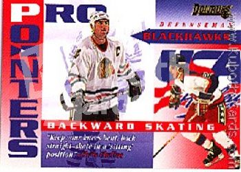 NHL 1995 / 96 Donruss Pro Pointers - No 4 of 20