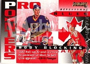 NHL 1995 / 96 Donruss Pro Pointers - No 17 of 20